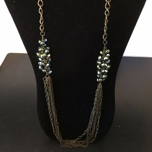 Long green Necklace. Add this to your bundle!
